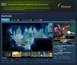 StarBreak was greenlit on Steam!