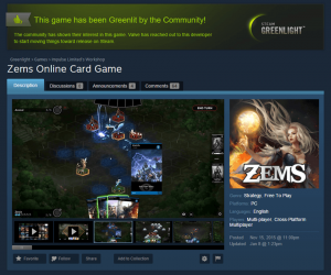 Zems was Greenlit on Steam!