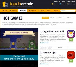 Love this Hot Games feature on Touch Arcade!
