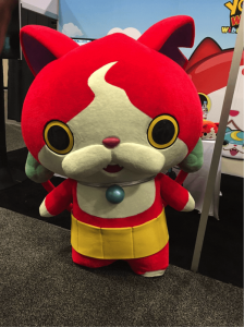 Jibanyan meowing at the crowd!