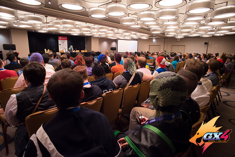 "Official GX4 photo by Emi - ""Butts in Games"" panel"
