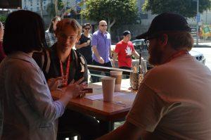 People at Layton Cafe