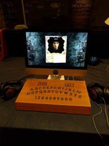 The Black Widow's IndieCade Setup.
