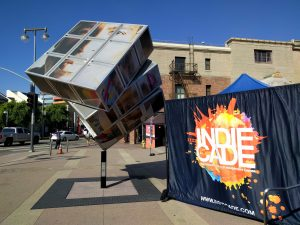 The outside of IndieCade.